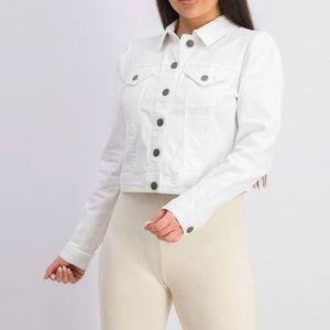 NWT Maison Jules White Jean Jacket Large